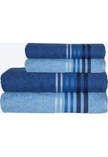 Jogo De Banho Camesa Dynamo Plus 4 Peças Azul Azul Claro