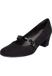 Scarpin Piccadilly Mary Jane Preto