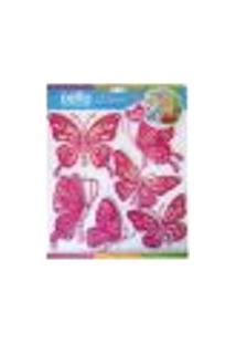 Adesivos De Parede Borboletas Rosas - Dellodecor