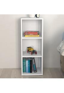 Estante Para Livros Clean 2 Prateleiras Branco - Artany