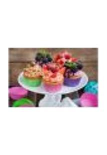 Painel Adesivo De Parede - Cupcakes - 696Pnp