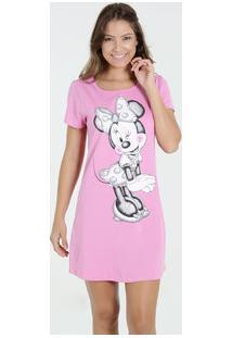 Camisola Feminina Estampa Minnie Glitter Disney
