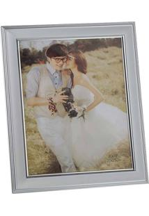 Porta Retrato Momentos 10X15Cm - Lyor Classic - Prata