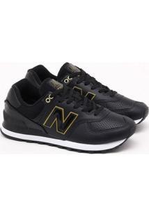 Tênis New Balance 574 Preto Feminino