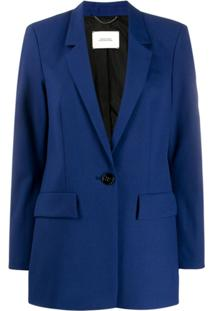 Dorothee Schumacher Single-Breasted Fitted Blazer - Azul