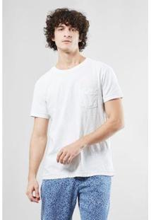 Camiseta Reserva Flame Estonada Com Bolso Ver 18 - Masculino-Off White