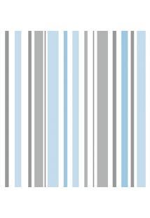 Papel De Parede Infantil Listras Azul E Cinza (950X52)