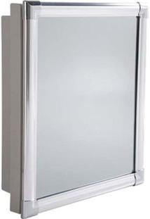 Ármario Para Banheiro Versatil 35X44X10Cm Com Perfil De Alumínio Astra