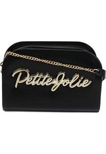 Bolsa Petite Jolie J-Lastic Mini Bag Pretty Feminina - Feminino-Preto+Dourado