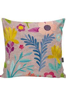 Capa Para Almofada Flowers- Marrom Claro & Amarelo Escurstm Home