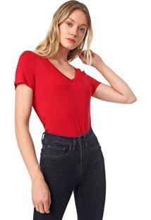 Blusa Dudalina Lisa Vermelha