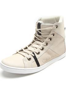 Sapatênis Couro Calvin Klein Style Filete Off-White