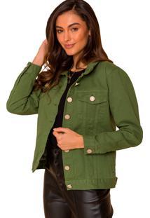 Jaqueta De Sarja Sislla Verde Militar