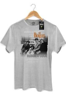 Camiseta Bandup Bandas The Beatles Rubber Soul Picture Cinza Mescla