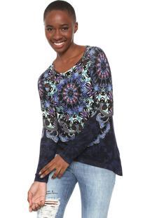 Suéter Desigual Tricot Minuch Azul-Marinho