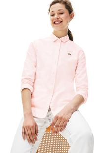 Camisa Lacoste Live Slim Fit Rosa