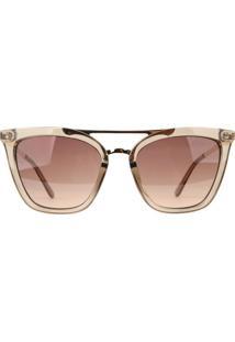 Óculos De Sol Atitude At5432 T01/53 Bege Transparente