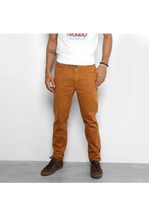 Calça De Sarja Skinny Cavalera Color Masculina - Masculino-Caramelo