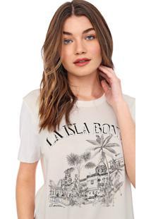 Camiseta Carmim La Isla Off-White - Kanui