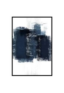 Quadro 60X40Cm Abstrato Textura Artea Moldura Preta Com Vidro Oppen House