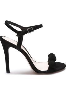 Sandália Stiletto Nobuck Fun Black | Schutz