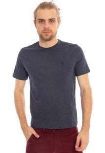 Camiseta Lisa Aleatory Masculina - Masculino-Azul Escuro