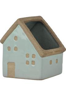Vaso De Cerâmica House Verde Mod. 2