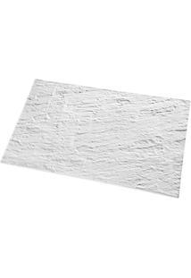 Tábua Retangular Stone 52,5 X 32,5 Cm Branco Dt04000 Haus Concept