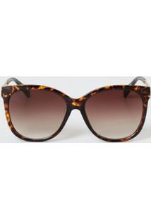 Óculos De Sol Feminino Redondo Animal Print Marisa