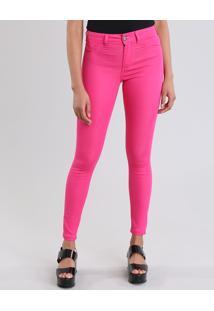 Calça Super Skinny Energy Jeans Em Algodão + Sustentável Pink