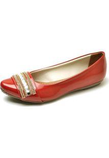 Sapatilha Pizaflex - Feminino-Vermelho