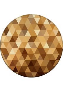 Tapete Love Decor Redondo Wevans Triângulos Amarelo 84Cm