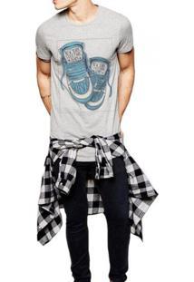 Camiseta Masculina Joss New York Shoes Cinza