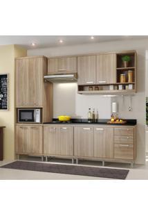 Cozinha Completa Com Balcão Com Tampo 6 Peças 11 Portas Sicília Multimóveis Argila