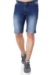 Bermuda Jeans Masculina Gangster Azul