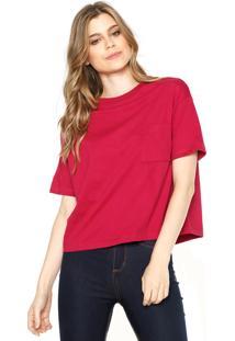 Camiseta Hering Bolso Rosa
