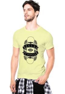 Camiseta Rgx Regular Goofy Skate Amarela Claro