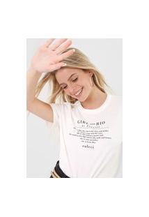 Camiseta Colcci Girl From Rio De Janeiro Off-White