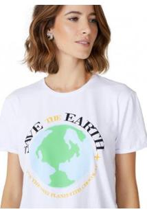 Camiseta T-Shirt Amaro Save The Earth Feminina - Feminino