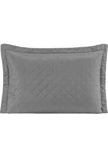 Porta Travesseiro Mr Microfibra 01 Peça Matelado Ultrassônico - Cinza