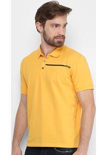 ... Camisa Polo Calvin Klein Piquet Básica Masculina - Masculino-Amarelo e54a952294f53
