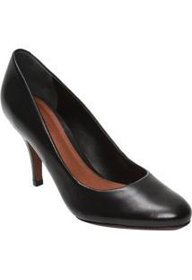 Sapato Tradicional Em Couro- Preto- Salto: 8,5Cmschutz