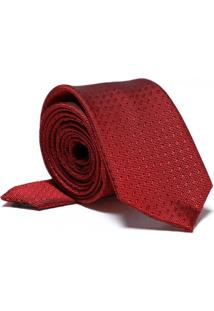 Gravata Hugo Rossi Jacquard Slim Vermelha