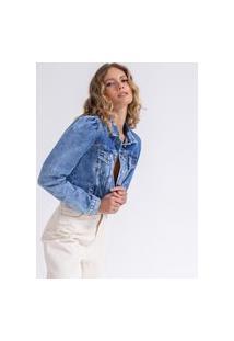 Jaqueta Cropped Jeans Princesa La Lima-G Jeans