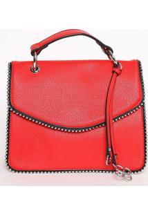 Bolsa Transversal Com Bag Charm- Vermelha- 18X22,5X9Fedra