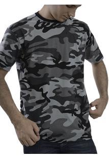 Camiseta Therelli Camuflada Cinza