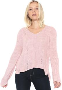 Suéter Mercatto Tricot Mullet Rosa