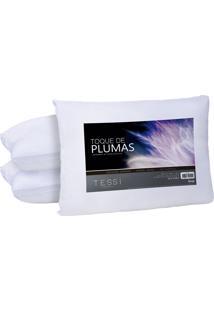 Travesseiro Pluma De Ganso 50Cm X 70Cm - Tessi