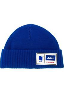 Ader Error Gorro Com Patch De Logo - Azul