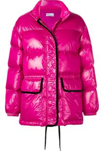 Red Valentino Coated Puffer Jacket - Rosa